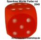 Mobile Preview: Spardose Würfel Farbvariante rot A
